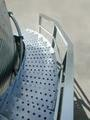 The BROCK SHUR-STEP® Silo Stairway features wide, sturdy steps.