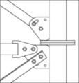 Patented adjustable Tower Connection Plate