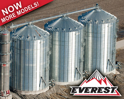 Brock's EVEREST® E-Series Grain Silos offer the tallest eave heights in the industry along with higher grain-holding capacities and enhanced roof peak load strength.