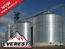 Brock offers a variety of stiffened flat-bottom and hopper-bottom storage silos including the company's line of EVEREST® E-Series Grain Silos.